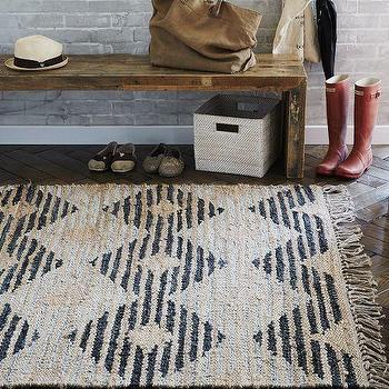 Rugs - Diamond Leather Jute Rug | West Elm - recycled leather rug, recycled leather and jute rug, diamond leather jute rug,