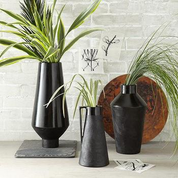 Decor/Accessories - Carla Peters Chulucanas Vases | West Elm - modern black vase, black terracotta vase, modern terracotta vase,