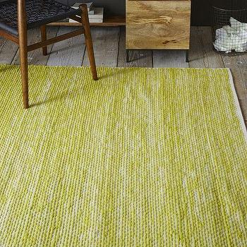 Rugs - Painters Cotton + Wool Rug - Sun Yellow | West Elm - yellow cotton and wool rug, yellow textural rug, canary yellow rug,