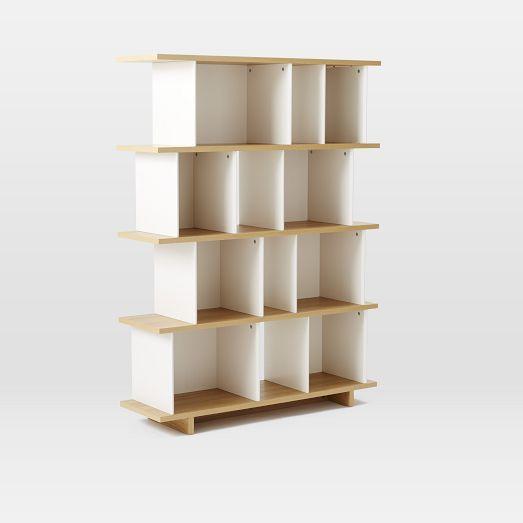 Decorative Boxes For Bookshelf : Boxes planes bookshelf tall west elm