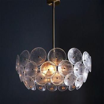 Lighting - Glass Disc Chandelier | West Elm - glass disc chandelier, glass and brass chandelier, modern glass chandelier,