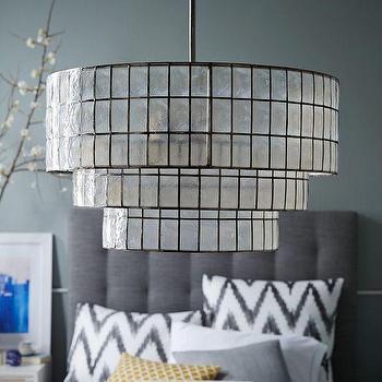 Lighting - Capiz Tiered Chandelier | West Elm - white capiz chandelier, tiered capiz chandelier, capiz shell chandelier,