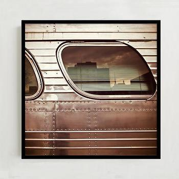 Art/Wall Decor - Framed Print - Old Bus 1958 | West Elm - vintage bus art, vintage bus photo, vintage bus photography,