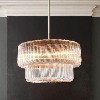 Lighting - Waterfall Chandelier | West Elm - acrylic waterfall chandelier, modern acrylic chandelier, curved acrylic chandelier,