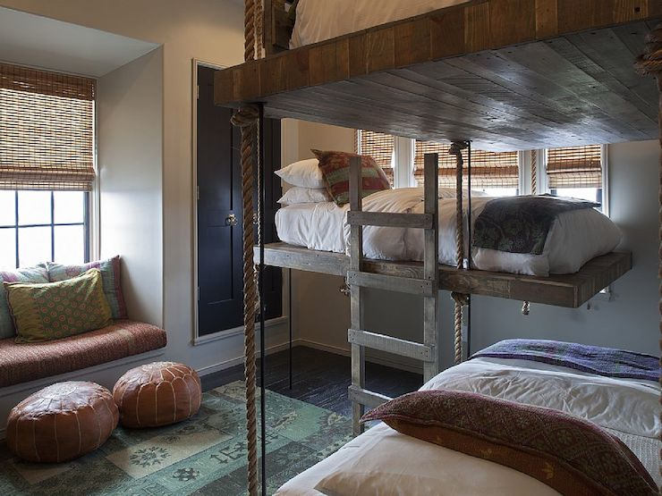 Rope Bunk Beds Mediterranean Boy S Room Alys Beach