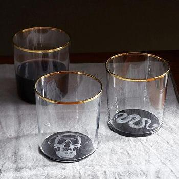 Miscellaneous - X-Ray Glassware | West Elm - halloween glassware, halloween serveware, halloween glasses,