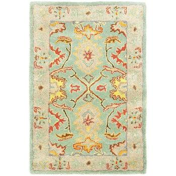 Rugs - Handmade Heritage Treasures Light Blue/ Ivory Wool Rug (2' x 3') | Overstock - blue and yellow oriental rug, blue and ivory oriental rug, blue green oriental rug,