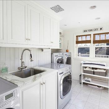 Double Washer and Dryer, Cottage, laundry room, Sotheby's Realty