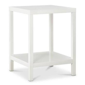 Tables - Oslo High Gloss Bunching Table I Target - white bunching table, glossy white bunching table, bunching side table,