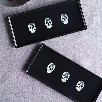 Miscellaneous - X-Ray Tray | West Elm - skull print tray, skull patterned tray, skull x ray tray,