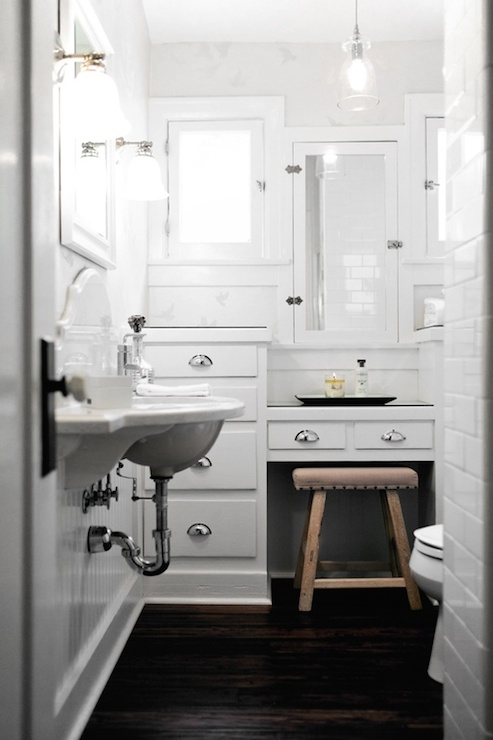 Wall Mounted Sink Transitional Bathroom Lukas