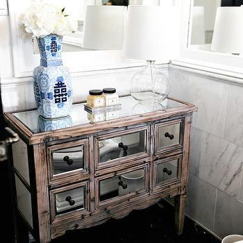 Mirrored Dresser, Transitional, bathroom, Lukas Machnik Design