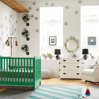 Art/Wall Decor - Star Bright Wall Decal (Silver) | The Land of Nod - silver star wall decal, silver star shaped wall decal, silver stars wall decal,