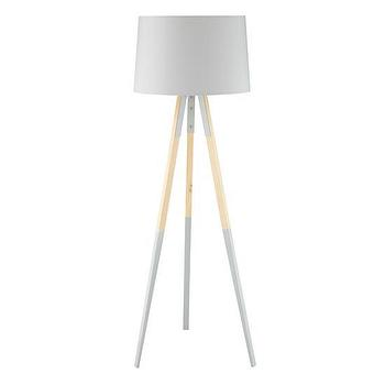 Lighting - Cinema Floor Lamp | The Land of Nod - tripod floor lamp, dipped tripod floor lamp, gray tripod floor lamp, modern tripod floor lamp,
