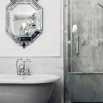 Over The Tub Mirror, Transitional, bathroom, Lukas Machnik Design