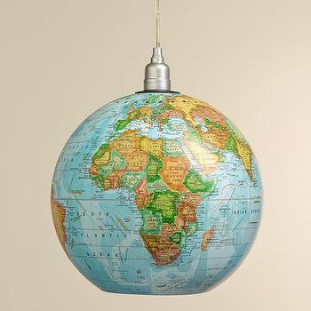 "Lighting - 12"" Globe Hanging Pendant I World Market - globe pendant light, globe shaped pendant, globe pendant lamp,"