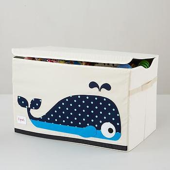 Decor/Accessories - Whale Toy Box | The Land of Nod - whale toy box, whale toy storage, whale toy crate,