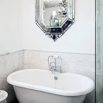 Mirror Over Bathtub, Transitional, bathroom, Lukas Machnik Design