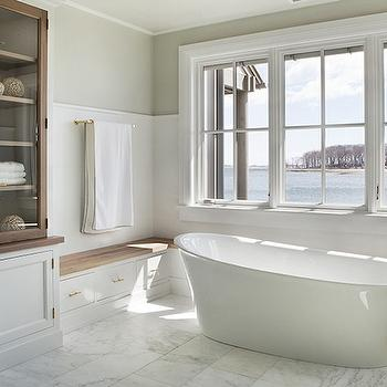 Bathroom Built In Bench, Transitional, bathroom, Michael Greenberg and Associates