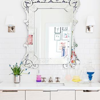 Venetian Vanity Mirror, Transitional, bathroom, Domaine Home