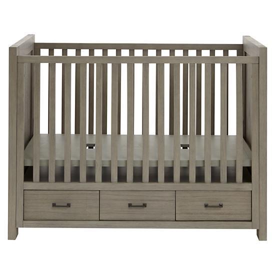 Keepsake Baby Crib With Storage Greywash The Land Of Nod