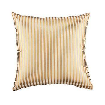 Pillows - Metallic Pinstripe Throw Pillow (Gold) | The Land of Nod - gold striped pillow, metallic gold stripe pillow, gold pinstripe pillow,