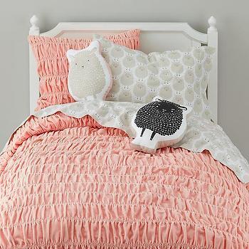 Pillows - Sheep Throw Pillow (White)   The Land of Nod - sheep shaped pillow, white sheep pillow, kids sheep pillow,