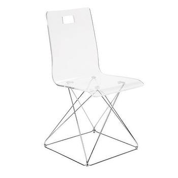Seating - Now You See It Acrylic Desk Chair | The Land of Nod - acrylic desk chair, kids acrylic chair, modern acrylic chair,