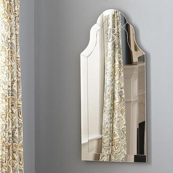 Mirrors - Birch Lane Margaux Mirror | Birch Lane - monogrammed mirror, arched monogrammed mirror, arched mirror,