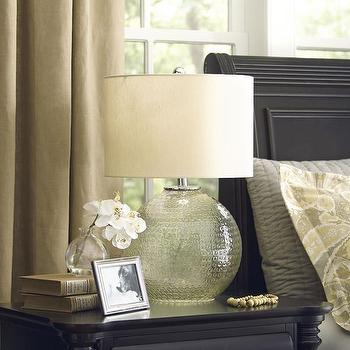Lighting - Birch Lane Connelly Table Lamp | Birch Lane - textured glass lamp, round glass lamp, textured round glass lamp,