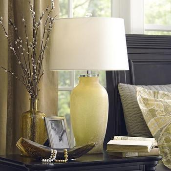 Lighting - Birch Lane Rosa Glass Table Lamp | Birch Lane - yellow glass lamp, frosted yellow lamp, pale yellow lamp,