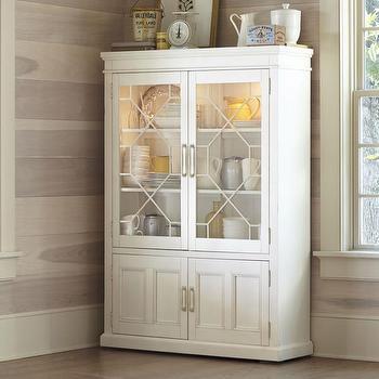 Storage Furniture - Birch Lane Lisbon China Cabinet | Birch Lane - fretwork china hutch, fretwork china cabinet, glass front china cabinet,