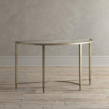 Tables - Birch Lane Horton Console Table | Birch Lane - antiqued silver console table, silver demi lune console table, antiqued silver demi lune console,
