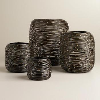 Black Spiral Metal Hurricane Candleholders, World Market