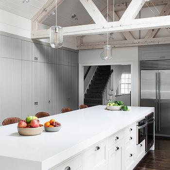 Truss Ceiling Beams, Contemporary, kitchen, LDa Architects