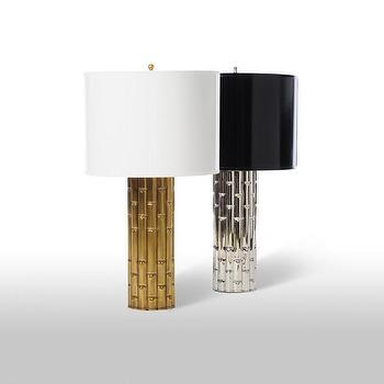 Lighting - Bamboo Lamp design by Barbara Cosgrove I Zinc Door - faux bamboo table lamp, gold bamboo table lamp, silver bamboo table lamp, brass bamboo table lamp, polished nickel bamboo table lamp,
