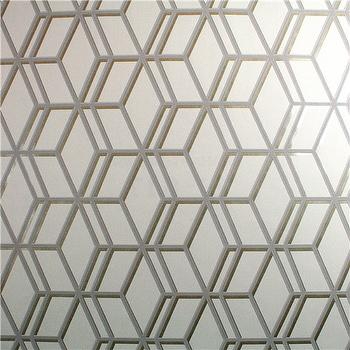 Wallpaper - Graham & Brown Steve Leung Ling Gray Wallpaper I Zinc Door - silver geometric wallpaper, silver and gray trellis wallpaper, silver and grey geometric wallpaper,