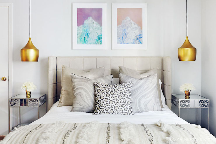 Aurora Bell Pendant Eclectic Bedroom Domaine Home