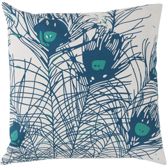 Peacock Feathers Pillow design by Florence Broadhurst I Burke Decor
