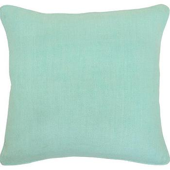 Pillows - Metro Pillow in Mint design by Villa Home | Burke Decor - mint colored pillow, mint green pillow, mint green linen pillow,