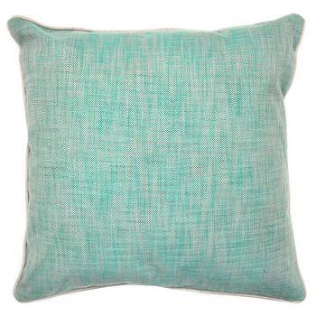 Pillows - Textured Hues Pillow in Jungle Green design by Villa Home | Burke Decor - textured blue green pillow, blue green pillow, blue green accent pillow,