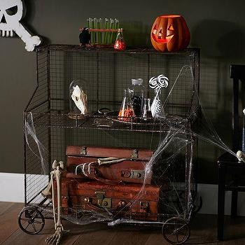 Storage Furniture - Outdoor Laboratory Cart | Pottery Barn - wire cart, halloween cart, black wire cart, decorative outdoor cart, outdoor halloween decor,
