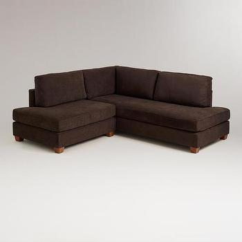 Chocolate Wyatt Sectional Sofa, World Market
