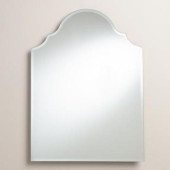 Mirrors - Sage Arch Mirror | World Market - arched mirror, arched beveled mirror, frameless beveled mirror,