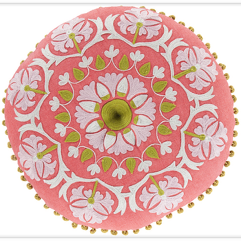 Suzani Hot Pink & Moss Pillow design by Surya I Burke Decor