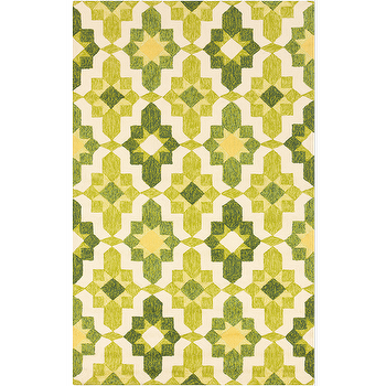 Rugs - Storm Forest, Lemon, & Lime Rug design by Surya I Burke Decor - green and yellow rug, retro green and yellow rug, green and yellow geometric rug,