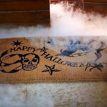 Miscellaneous - Medieval Happy Halloween 18 x 30 I Pottery Barn - halloween door mat, coir halloween door mat, happy halloween door mat,