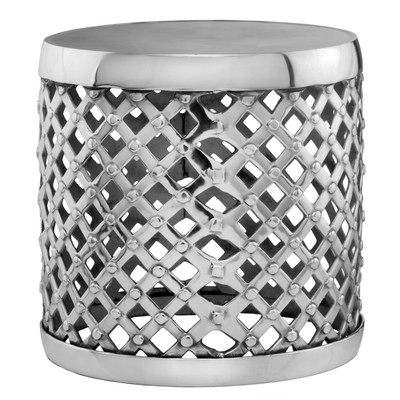 All Modern Aluminum Round Drum Stool Look 4 Less