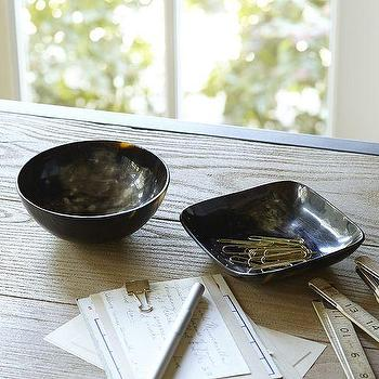 Decor/Accessories - Horn Catchalls | Pottery Barn - horn bowl, buffalo horn bowl, horn catchall,