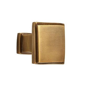 Decor/Accessories - Boulevard Square Knob | Pottery Barn - antique brass knob, antique brass cabinet pulls, square brass cabinet pull, antique brass square pull,